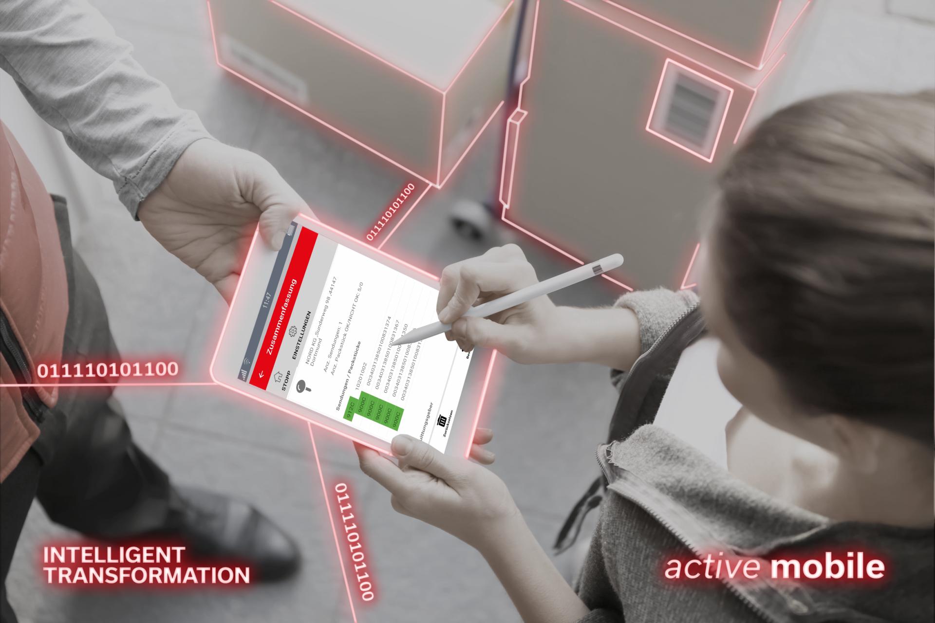 App zur Abholung und Zustellung mit durchgängigen Datenfluss zur Unterstützung Ihrer bestehenden Systeme