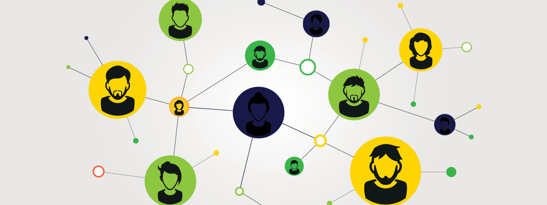 Illustration of a social network. Social contacts of people connected by nodes and lines. EPS 10 vector.; Shutterstock ID 1726750087; Purchase Order: 20210414; Job: EF Logo's; Client/Licensee: Business development
